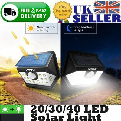 Mpow 40/30/20 LED Solar Light Motion Sensor Security Wall Pathway Lamp Lighting