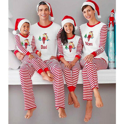 Kids Adult Family Matching Christmas Pajamas Sleepwear Nightwear Pyjamas