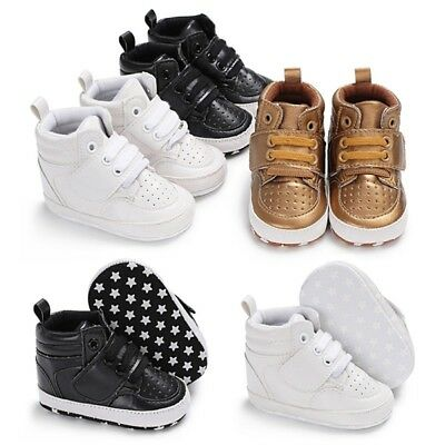 Newborn Baby Boy Girl Soft Sole Crib Shoes Anti-slip Sneakers Prewalker Shoes US