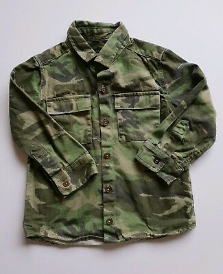 Next boys shirt 18-24 months camouflage khaki green shirt