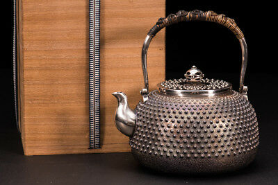 Japanese 100% Pure Silver Teapot Collection Item