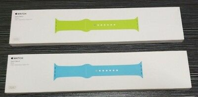 Genuine Original Apple Watch Band 38mm Sport Band - Blue or Green with box