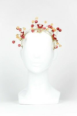BLUEBIRD - Red Abstract Floral Crown by Ford Millinery Ladies Hat Women's