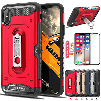 Rugged Shockproof Case Heavy Duty Silicone Cover For Apple iPhone X XS Max XR+TG
