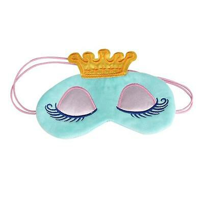 Cute Eyes Cover Crown Style Travel Sleeping Aircraft Blindfold Shade Eye Mask
