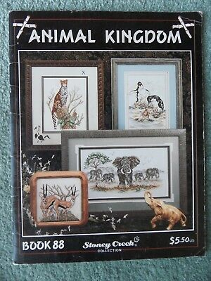 Cross Stitch booklet/pattern  - animal kingdom - stoney creek book 88