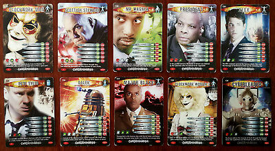 Doctor Who Battles In Time 10 x Trading Cards (130 - 139)
