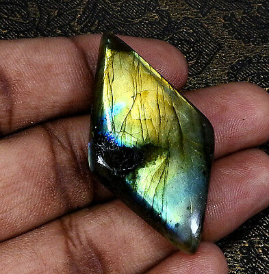 "59.10cts. Natural ""Classic"" Golden labradorite Cabochon Gemstone Fancy ;#22030"