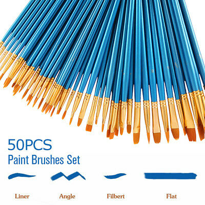 Artist Paint Brushes Kit Set Watercolour Acrylic Oil Painting Face Paints Craft
