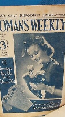 vintage WOMAN'S WEEKLY magazines 1941 1951 (2)