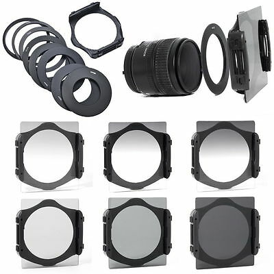 Full + Graduated Filter Set + 9 Adapter Ring + Holder + Case For Cokin P LF6