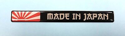 1 x 120mm 'MADE IN JAPAN' Sticker With RISING SUN - HIGH GLOSS DOMED GEL