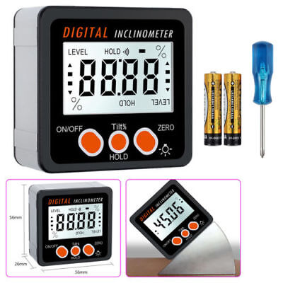 0-360°Digital LCD Protractor Angle Finder Bevel Level Box Inclinometer Meter HOT