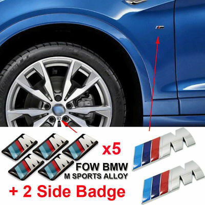 7Sets M Tech Power Alloy Wheel Badge Emblems & Fender Sticker Decal For All BMW