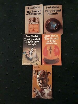Dennis Wheatley Books 5 in Total - Including 3 Julian Day Story's