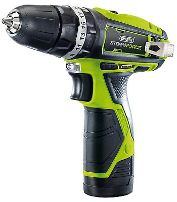 Draper 16049 10.8 V Storm Force Cordless Hammer Drill with Li-ion Battery