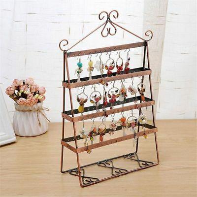 136 Holes Earrings Jewelry Display Rack Metal Stand Holder Storage Showcase New