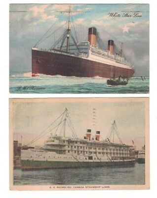 Vintage Postcards Maritime LOT OF 8 Ships Philadelphia Maritime Museum