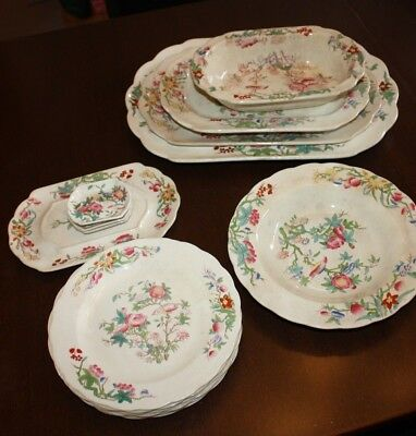 Antique Brownfield Ivory Dish Set - NO 7044 - Dilky - a 1315 - 1884 1885 Stamped