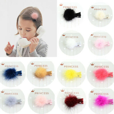 2PCS Lovely Cute Baby Kids Girls Headwear Hair Pins Clips Accessories 12 Colors