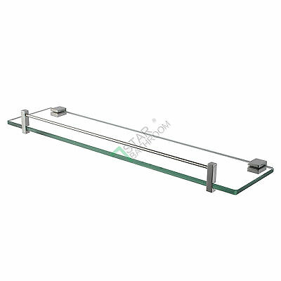 500mm Single Towel Rack Stainless Steel 304 Chrome Holder Wall Mount Glass Shelf