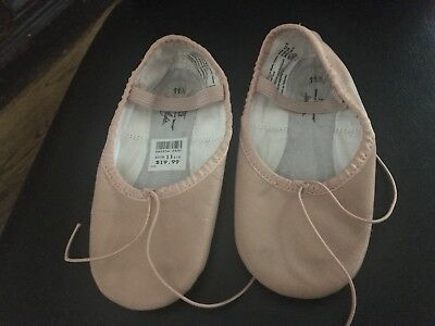 Pink ballet shoes size 11 1/2 Little girls ABT American Ballet Theatre GUC
