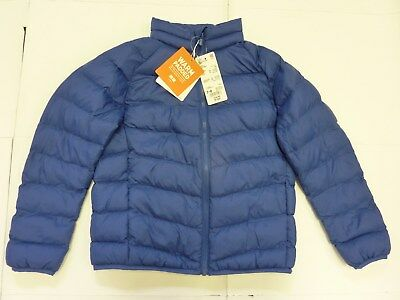 BNWT UNIQLO Boy's  Quilted Padded Jacket Blue Age 7 - 8