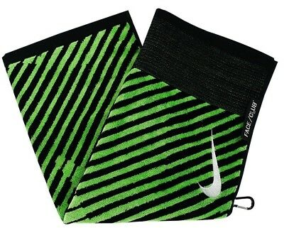 (Black/Voltage Green) - Nike Golf- Face/Club Jacquard Towel. Brand New