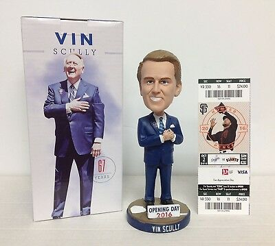 Vin Scully 2016 Los Angeles Dodgers STADIUM PROMO Bobblehead SGA and an