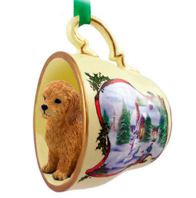 Goldendoodle Christmas Ornament Teacup