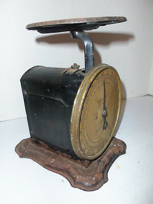 Vintage Antique Columbia 24 Pound Family Scale Circa 1900s Value Wedge WORKS