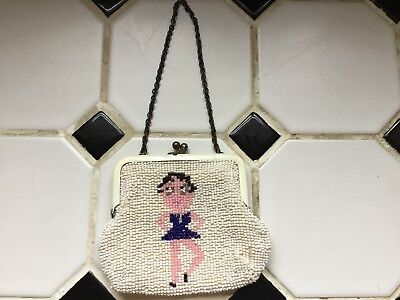Small Vintage(?) Beaded Change Purse Betty Boop