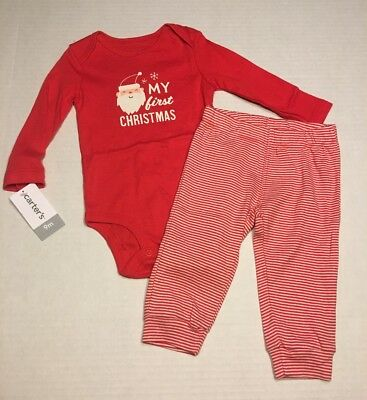 Carter's My First Christmas 2 Piece Outfit Baby Size 9 Months New