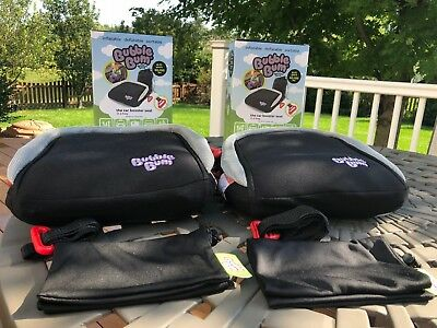 Two Bubble Bum Inflatable Portable Booster Seats - Only used once