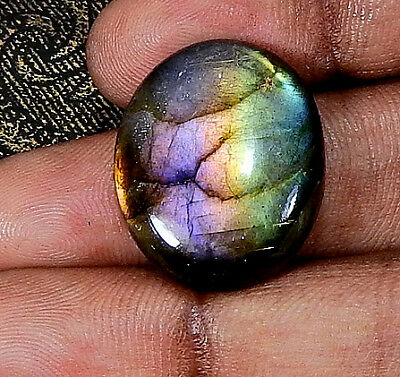 "Natural ""Deluxe"" Purple labradorite Cabochon Gemstone Oval 26.45cts.;#22033"