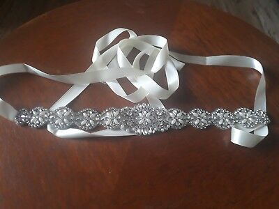 Bridal sash belt wedding dress crystal Diamond and Pearl