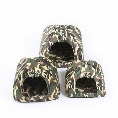 Small Pet Bed House Puppy Dog Cat Kennel Camouflage Soft Pet House Supplies