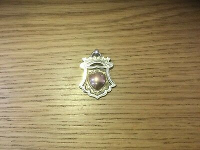 Vintage Antique 1928 Fob Watch Medal Silver And Gold