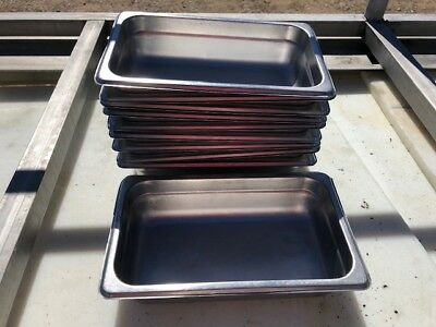 10 Pro Advantage Stackable Stainless Steel Insert Food Serving Buffet Pans NSF