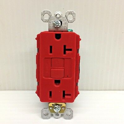 Legrand Pass Seymour GFCI Duplex Receptacle Self Test 2097RED 20A FREE SHIPPING