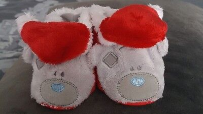 Me To You Tatty Teddy Christmas Baby Booties Unisex - size 3-6 months (boxed)