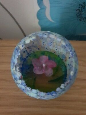 Caithness millefiori pool glass paperweight