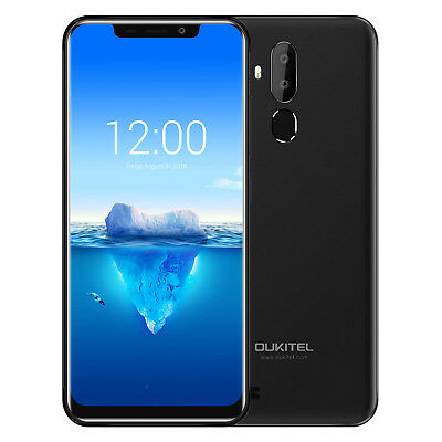 Handy Schwarz Oukitel C12 Pro 16G 4G Smartphone Ohne Simlock Android 8.1 Face ID
