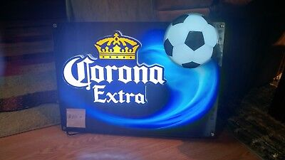 corona extra LED sports motion soccer ball sign