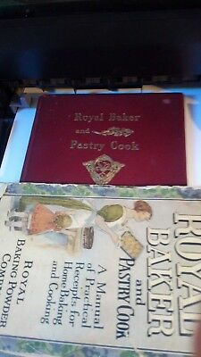 Vintage1911 & 1912 Royal Baker And Pastry Cook Books