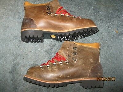 New Dunham Continental Tyroleans Brown Leather Mountaineering Boots Men 11M
