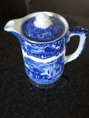 George Jones & Son Blue & White Coffee/hot Water Jug.