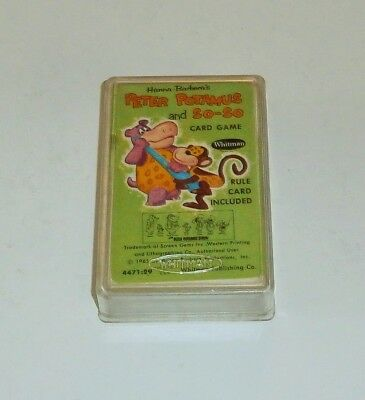 Rare 1965 Whitman Peter Potamus And So-so Card Game With Case Hanna Barbera
