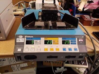VALLEYLAB FORCE FX Electrosurgical Unit as pictured working with foot Pedal