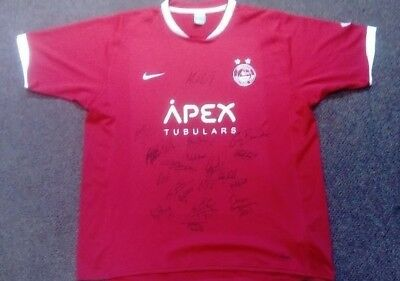 Aberdeen FC 2007 AUTOGRAPHED Home Nike  shirt Size XL SIGNED JERSEY PLAYERS